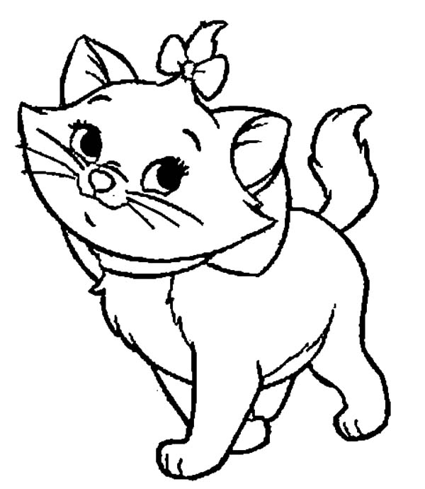 the aristocats beautiful marie coloring pages - Aristocats Kittens Coloring Pages