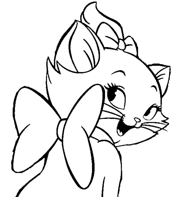 Aristocats, : The Aristocats Beautiful Smile of Marie Coloring Pages