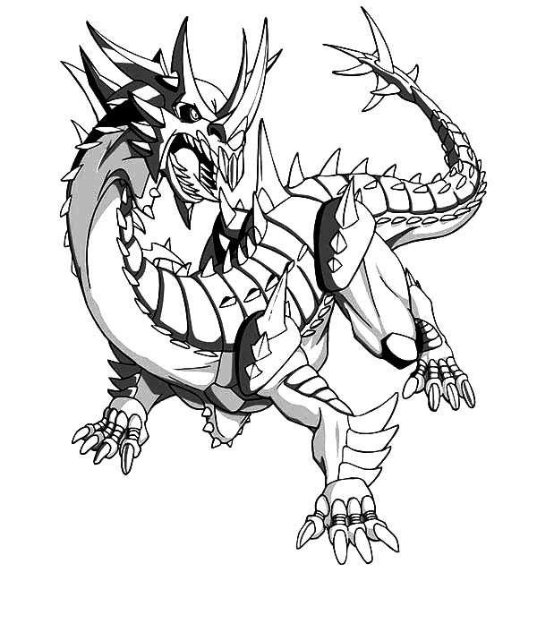 Bakug, : The Drago Bakug Bakugan Coloring Pages