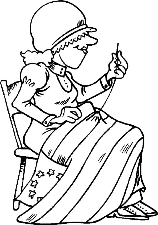American Revolution Flag, : The Making of American Revolution Flag Coloring Pages