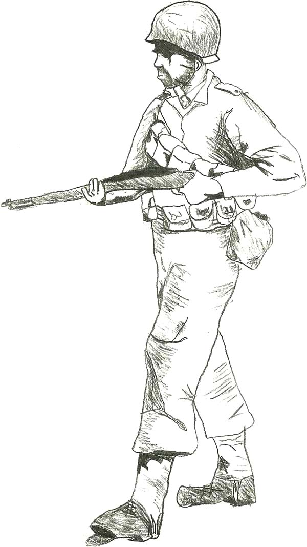 Army, : US Army Walking Coloring Pages
