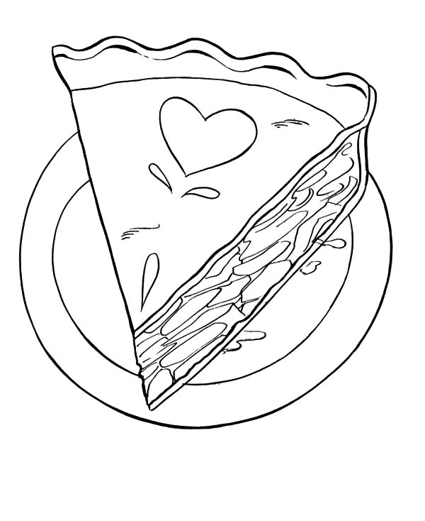 Free Printable Coloring Page Apple Pie Ink Food Fruits