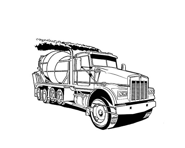 Army Car, : cement truck coloring page