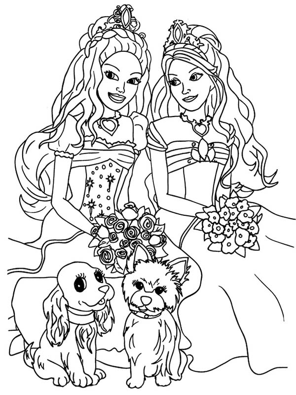 Barbie And The Diamond Castle Coloring Pages