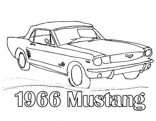 Classic Cars, : 1966 Mustang Classic Cars Coloring Pages