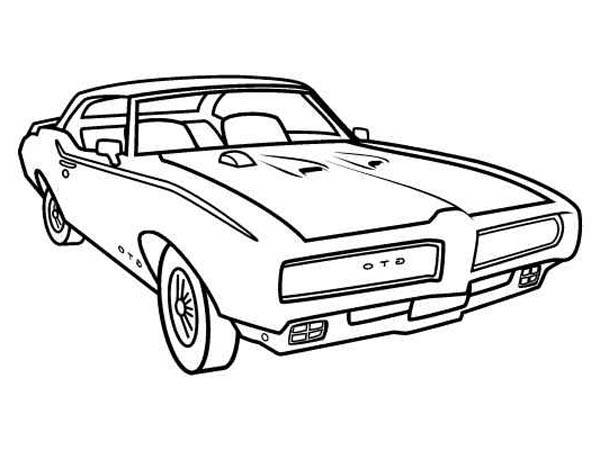 Classic Cars, : 1969 Ford Mustang GTO Coloring Pages