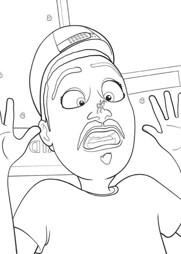 Bee Movie, : A Man Afraid of Bee Stung in Bee Movie Coloring Pages