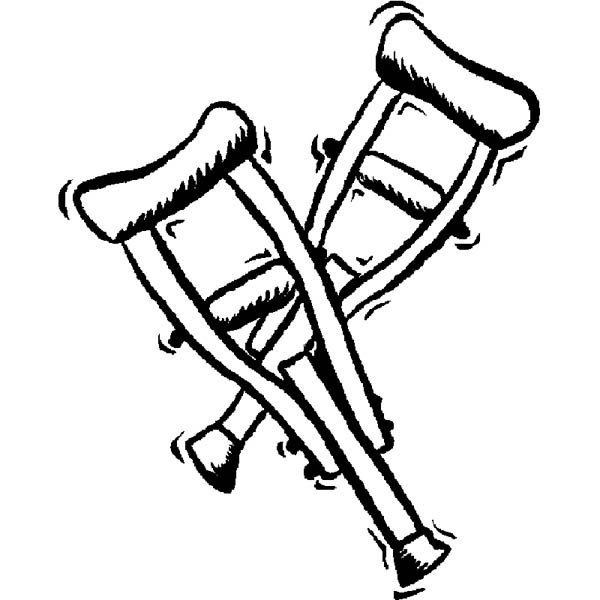Hospital, : A Pair of Walker Hospital Coloring Pages
