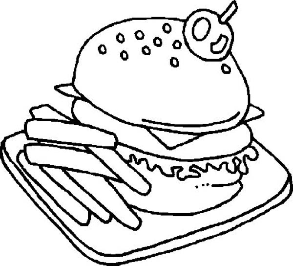 Foods, : American Junk Food Coloring Pages