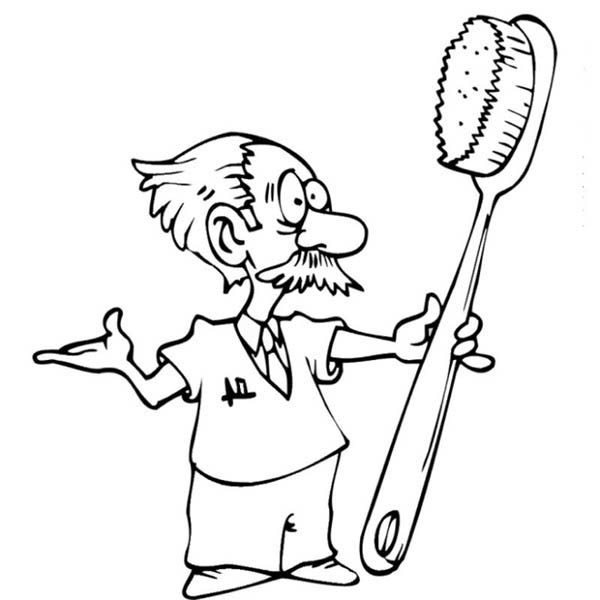 Dentist, : An Old Dentist Coloring Pages