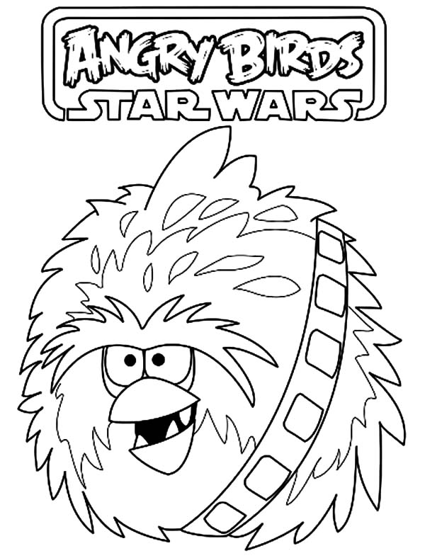 Angry Bird Star Wars, : Angry Bird Star Wars Fuzzball Coloring Pages