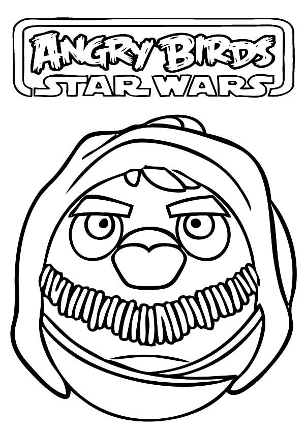 Angry Bird Star Wars, : Angry Bird Star Wars Obi Wan Kenobi Coloring Pages