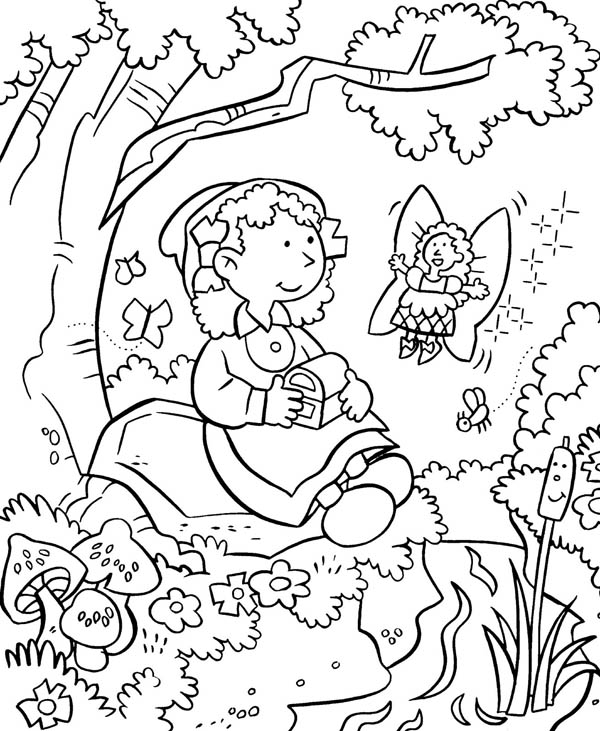 Gardening, : Anne Take a Rest Because She Tired After Gardening Coloring Pages