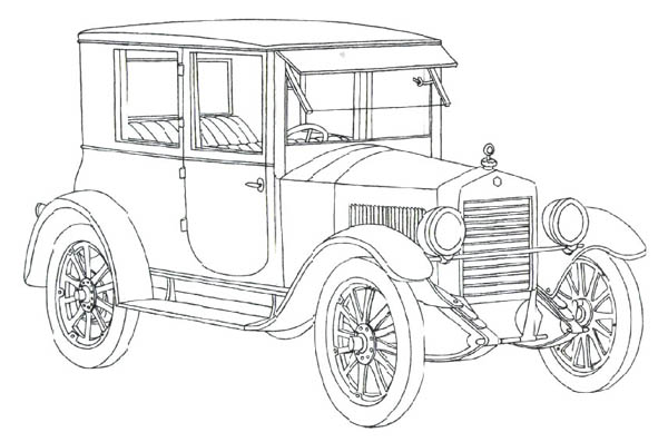 Araba Boyama Sayfalari Classic Cars Coloring Pages Bulk Color