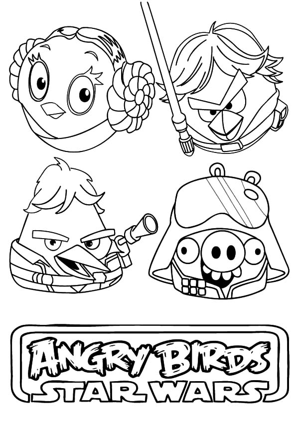 Angry Bird Star Wars, : Awesome Angry Bird Star Wars Coloring Pages