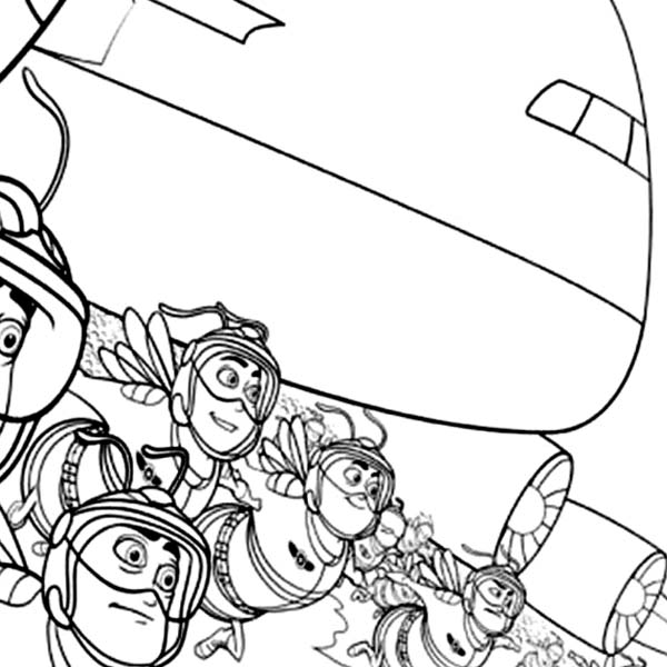 Bee Movie, : Awesome Bee Soldiers in Bee Movie Coloring Pages