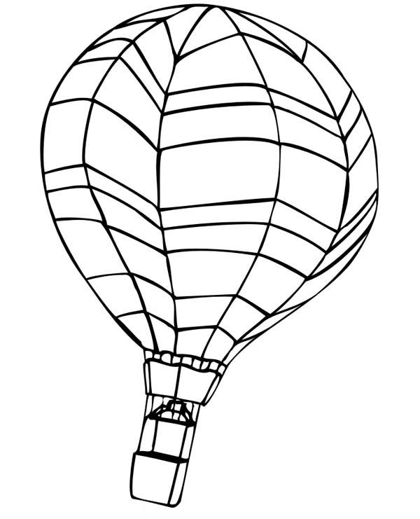 Hot Air Balloon, : Awesome Hot Air Balloon Coloring Pages