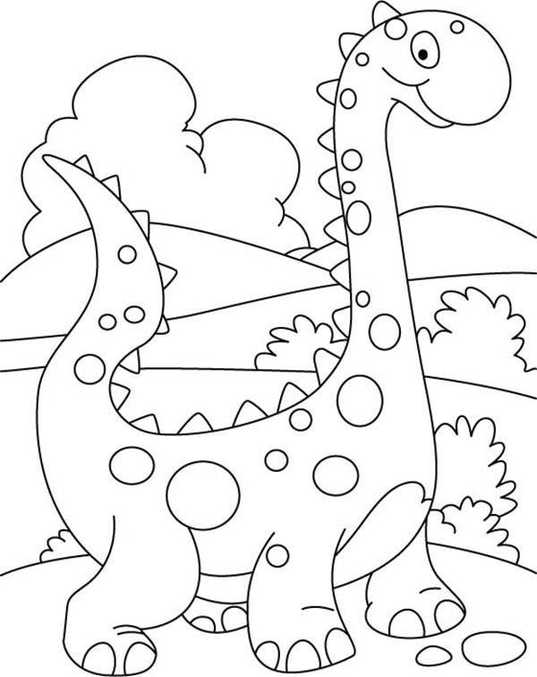Baby Dinos, : Baby Dinos Dalmatians Coloring Pages