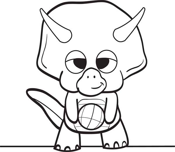 Baby Dinos, : Baby Dinos is Ready to Play Football Coloring Pages