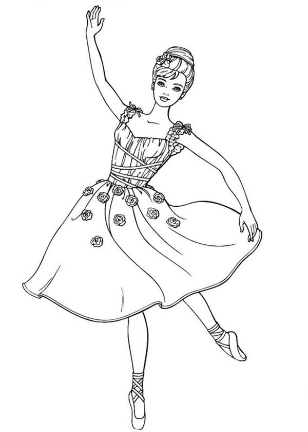 Barbie, : Barbie Ballet Show Coloring Pages
