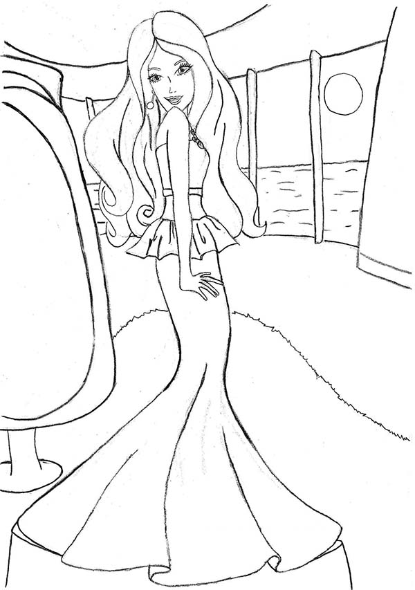 Barbie, : Barbie Coloring Pages for Kids