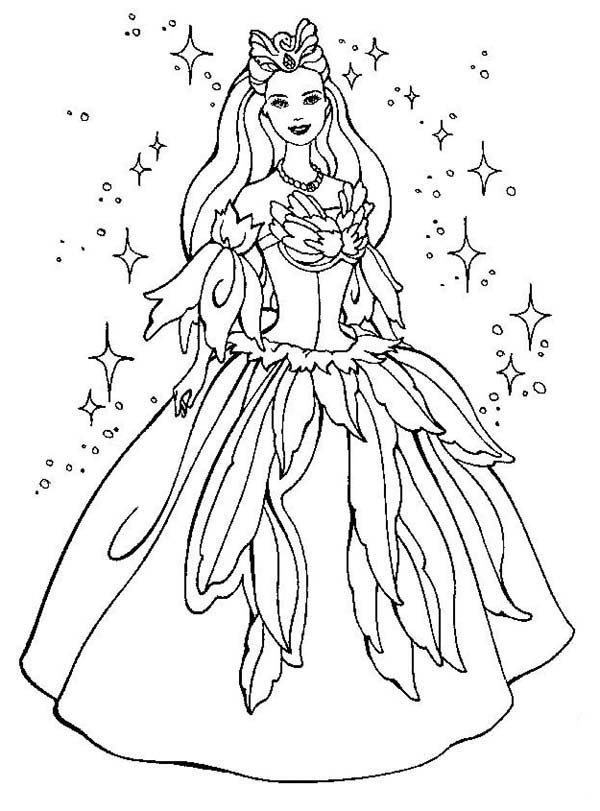 Barbie, : Barbie Magical Dress Coloring Pages