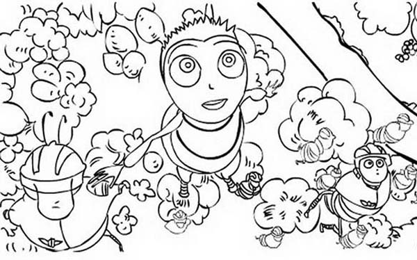 Bee Movie, : Barry and Bee Squad in Bee Movie Coloring Pages