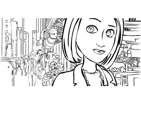 Bee Movie, : Bee Movie Coloring Pages for Kids
