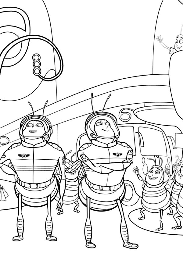Bee Movie, : Bee Soldier in Bee Movie Coloring Pages