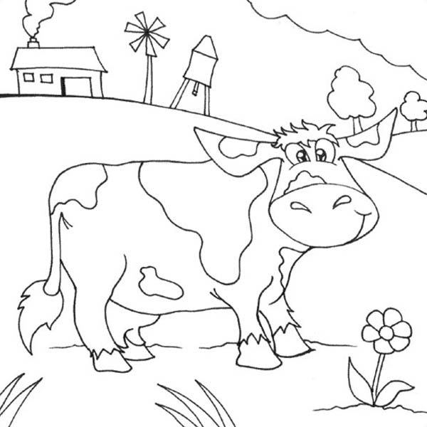 Farm Life, : Cartoon of Farm Life Coloring Pages