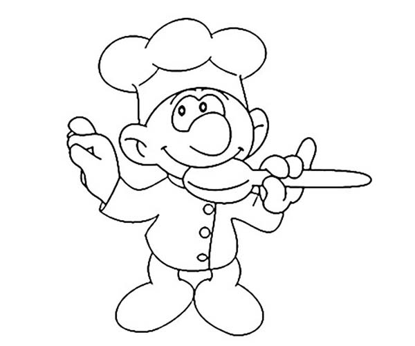 Bakery, : Chef Tasting Cake Formula in Bakery Coloring Pages