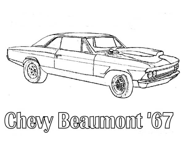 Chevy Beaumont 67 Classic Cars Coloring Pages : Bulk Color