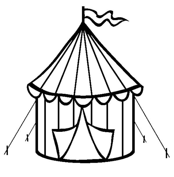 Circus and Carnival, : Circus Tent is Open at Circus and Carnival Coloring Pages