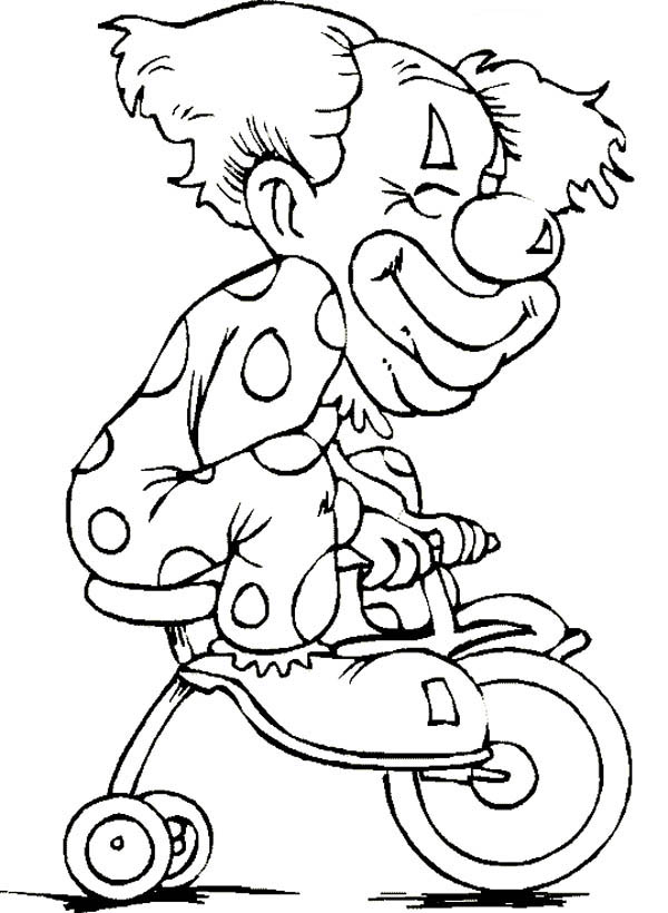 Circus and Carnival, : Circus and Carnival Clown Coloring Pages for Kids