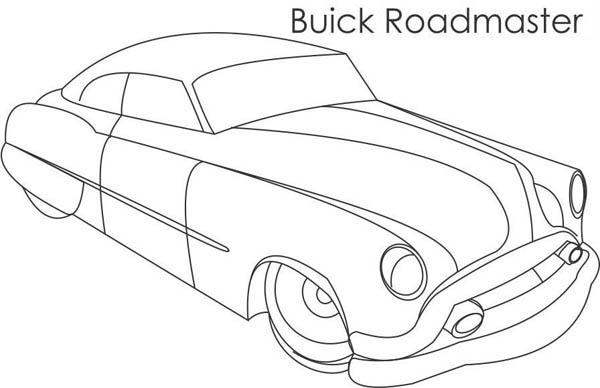 Classic Cars, : Classic Cars Coloring Pages Buick Roadmaster