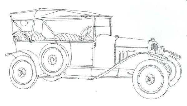 Classic Cars, : Classic Cars Coloring Pages Citroen Type A
