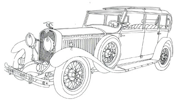 Classic Cars, : Classic Cars Coloring Pages Hispano Sulza