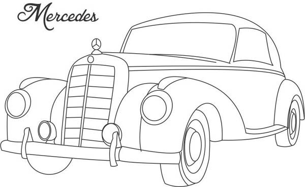 Classic Cars, : Classic Cars Coloring Pages Mercedes