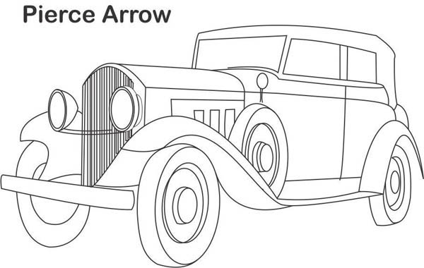 Classic Cars, : Classic Cars Coloring Pages Pierce Arrow