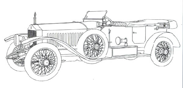 Classic Cars, : Classic Cars Coloring Pages Roll Royce Continental
