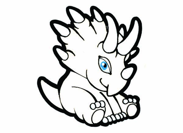 Baby Dinos, : Cute Baby Dinos Sitting Coloring Pages