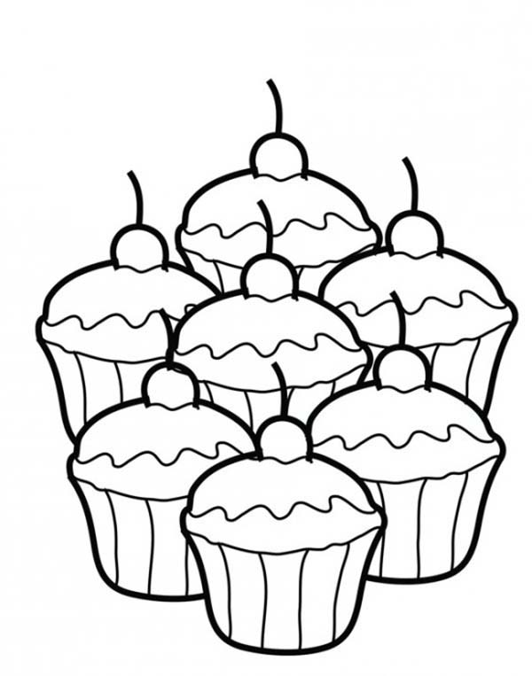 Bakery, : Delicious Cupcake Bakery Coloring Pages