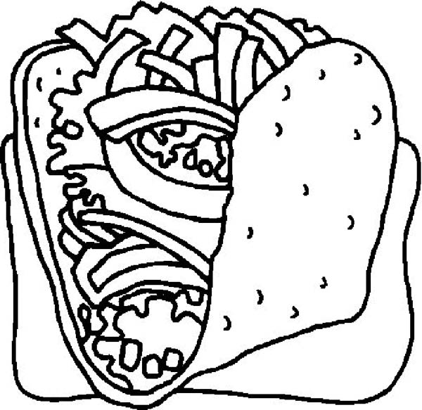 Foods, : Delicious Food Coloring Pages