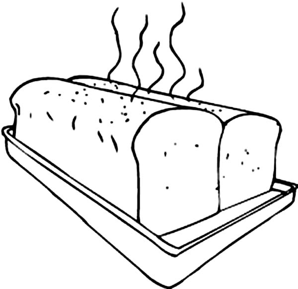 Bakery, : Delicous Warm Bread from Bakery Coloring Pages