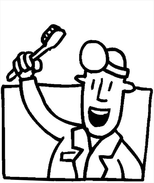 Dentist, : Dentist Bright Smile Coloring Pages