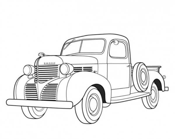 Classic Cars, : Dodge Pickup 1939 Classic Cars Coloring Pages