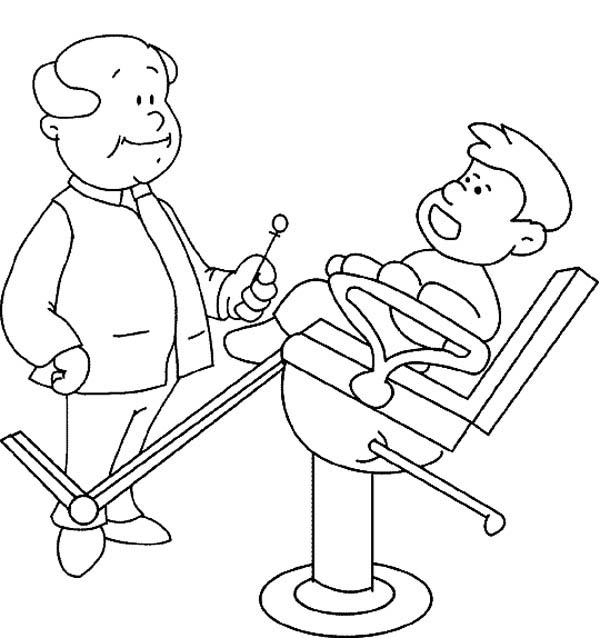 Dentist, : Don't Be Afraid to Dentist Coloring Pages