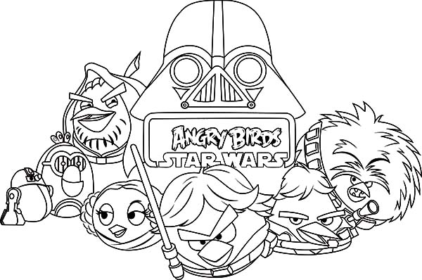 Angry Bird Star Wars, : Drawing Angry Bird Star Wars Coloring Pages
