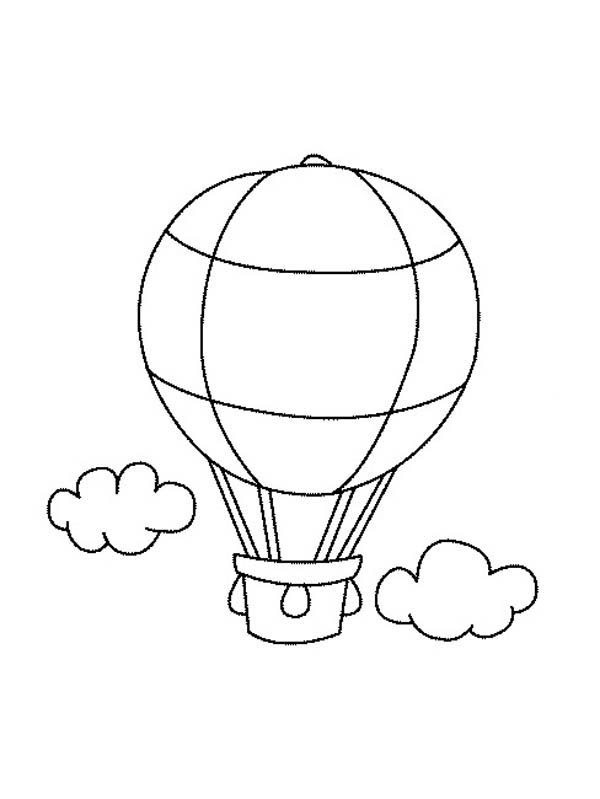 Drawing Hot Air Balloon Coloring Pages
