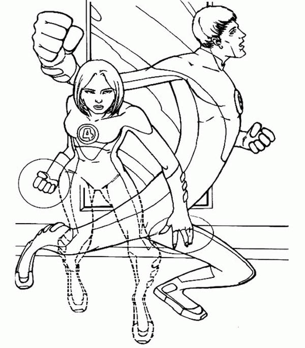 Duet Of Mister Fantastic And Invisible Girl In Fantastic Four